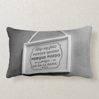 Almofada Lombar travesseiro do feliz da soja