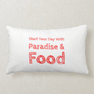 Almofada Lombar Travesseiro do paraíso e da comida
