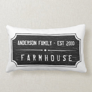 Almofada Lombar Travesseiro do sinal da família da casa da quinta