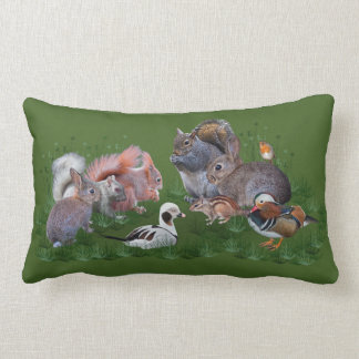 Almofada Lombar Travesseiro dos animais da floresta