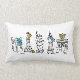 Almofada Lombar Travesseiro dos marcos de New York Hanukkah