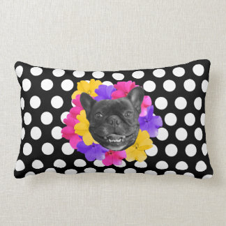 Almofada Lombar Travesseiro dos pontos dos Pansies de Frenchie