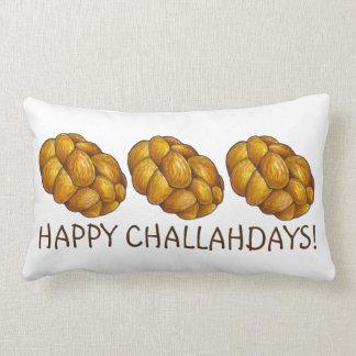 Almofada Lombar Travesseiro feliz de Hanukkah do pão do Chalá de