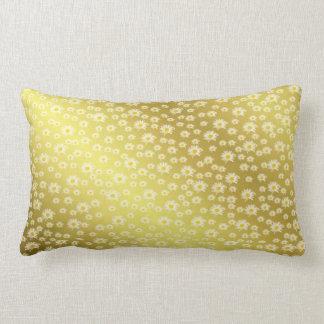 Almofada Lombar travesseiro, flor branca no ouro
