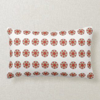 Almofada Lombar Travesseiro geométrico cinzento alaranjado branco