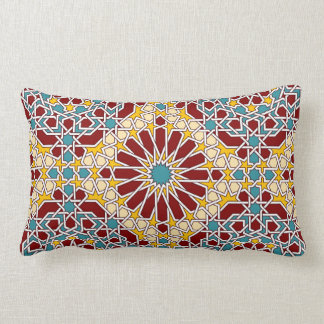 Almofada Lombar Travesseiro geométrico islâmico do teste padrão