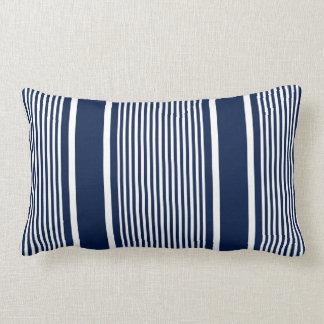 Almofada Lombar Travesseiro listrado náutico dos azuis marinhos