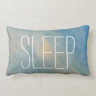 Almofada Lombar Travesseiro lombar da aguarela azul do sono