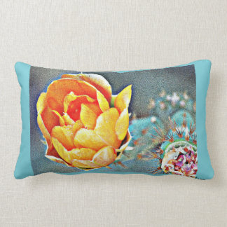 Almofada Lombar Travesseiro lombar da flor alaranjada do cacto
