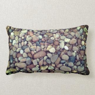 Almofada Lombar Travesseiro lombar da foto dos seixos das pedras