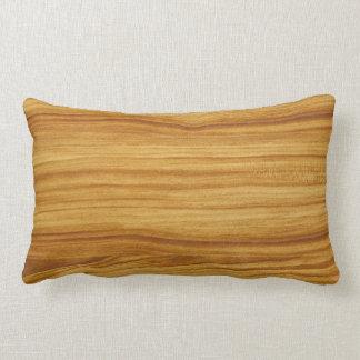 Almofada Lombar Travesseiro lombar da grão de madeira clara