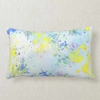 Almofada Lombar Travesseiro lombar da pintura Pastel do Splatter