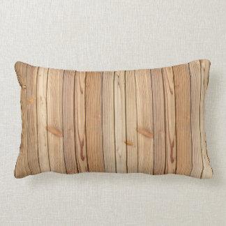 Almofada Lombar Travesseiro lombar da textura de madeira clara do