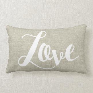 Almofada Lombar Travesseiro lombar do amor de linho do olhar
