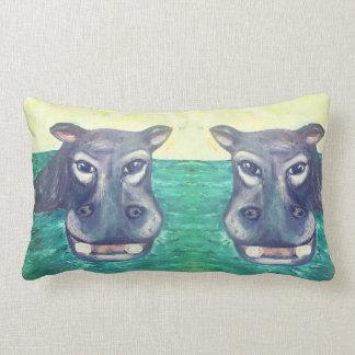 Almofada Lombar Travesseiro lombar do hipopótamo