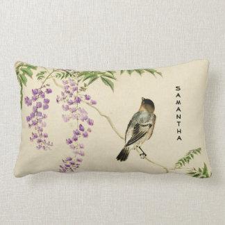 Almofada Lombar Travesseiro lombar do pardal japonês do Lilac do