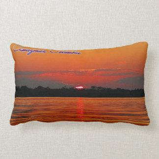 Almofada Lombar Travesseiro lombar do por do sol do Rio Amazonas