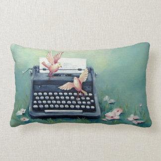 Almofada Lombar Travesseiro lombar do verde da máquina de escrever