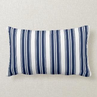 Almofada Lombar Travesseiro lombar listrado do azul marinho e o