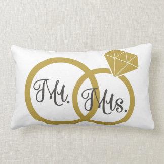 Almofada Lombar Travesseiro personalizado da aliança de casamento