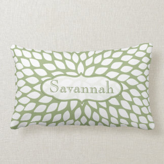 Almofada Lombar Travesseiro personalizado verde da samambaia da