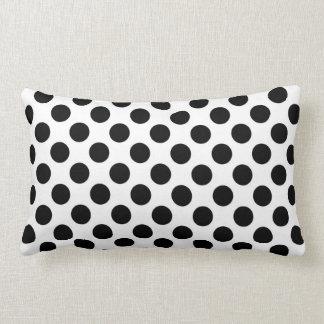 Almofada Lombar Travesseiro preto do amor das bolinhas