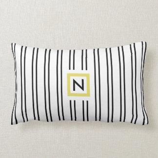 Almofada Lombar Travesseiro preto e branco do poliéster do