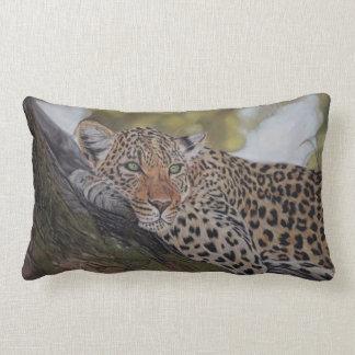 Almofada Lombar Travesseiro realístico do gato de leopardo