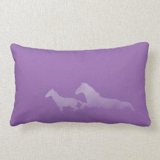 Almofada Lombar Travesseiro Running dos cavalos de Lavendar