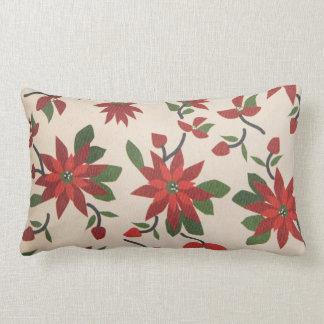 Almofada Lombar Travesseiro vermelho da flor de Poinsenta
