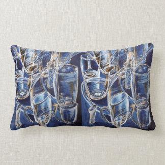 Almofada Lombar Travesseiros com vidros no azul