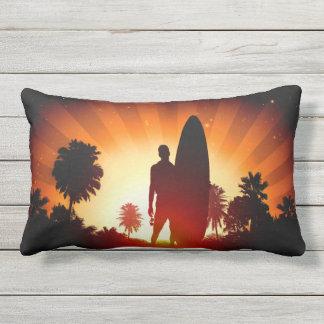 Almofada Lombar Travesseiros do throe do por do sol do surfista