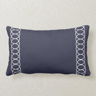 Almofada Lombar Treliça azul & branca do círculo