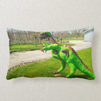 Almofada Lombar trex do dinossauro do metal na foto do parque