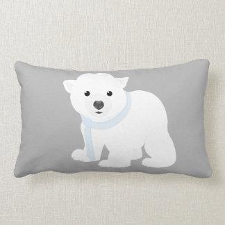Almofada Lombar Urso cinzento gelado da neve