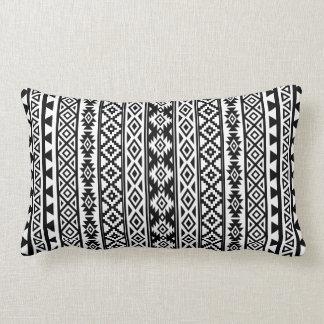 Almofada Lombar (v) preto & branco estilizados astecas do teste
