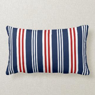 Almofada Lombar Vermelho náutico, branco, travesseiro lombar dos