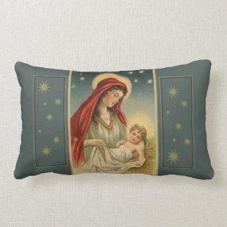 Almofada Lombar Virgem Maria do natal vintage com o Jesus no