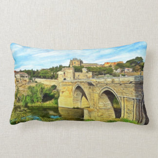 Almofada Lombar Vista da ponte de St Martin em Toledo.