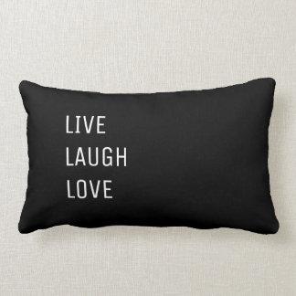 Almofada Lombar Vive o amor | dois preto e branco do riso em um
