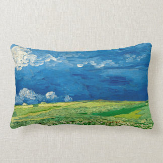 Almofada Lombar Wheatfield sob Thunderclouds por Vincent van Gogh