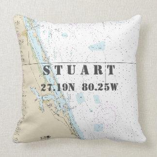 Almofada Longitude náutica da latitude da carta: Stuart,