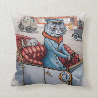 Almofada Louis Wain - Chauffeur do gato com gatinhos