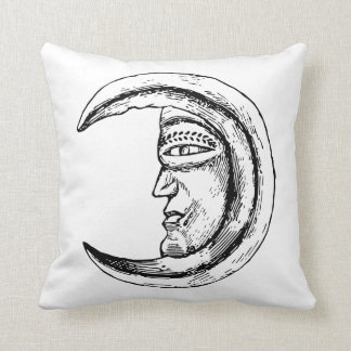 Almofada Lua que tira o travesseiro preto e branco