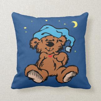 Almofada Lua sonolento e estrelas do urso do tempo