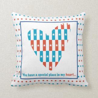 Almofada Lugar patriótico no coração, incentivo do apoio