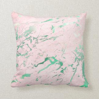 Almofada Luxo aquático do mármore do rosa do rosa da