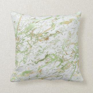 Almofada Luxo de mármore branco abstrato do ouro verde da