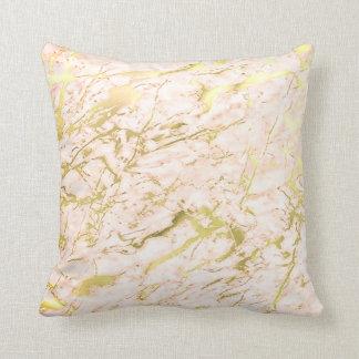 Almofada Luxo de mármore Pastel do ouro coral abstrato dos