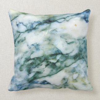 Almofada Luz - azul - impressão do mármore do falso do
